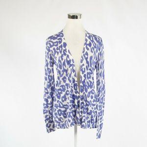 Ann Taylor LOFT periwinkle purple white sweater S